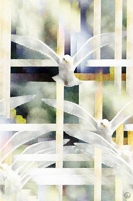 Dove Digital Art - Towards Freedom by Gun Legler