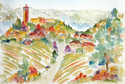Winery Painting - Towards Mission Hill by Pat Katz