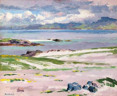 Cloudy Day Painting - Towards Mull From Choc Ard Anraidh by Francis Campbell Boileau Cadell