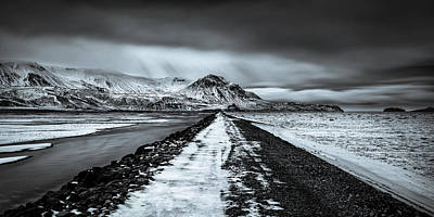 Winter Landscapes Photograph - Towards Storidalur by Dave Bowman