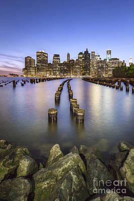 Gotham City Photograph - Towards The Evening Star by Evelina Kremsdorf