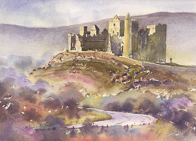 Rock Of Cashel Painting - Towards The Rock Of Cashel County Tipperary by Keith Thompson