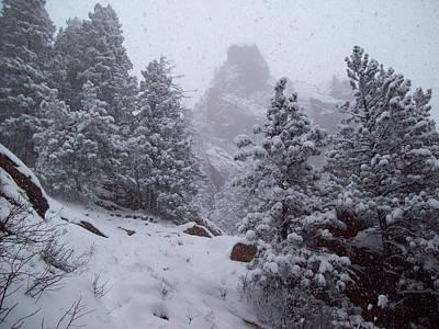 Towards Top Of Bear Peak Mountain During Intense Snow Storm - North Side Original