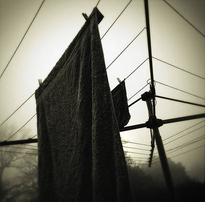 Clothesline Photograph - Towels  by Les Cunliffe