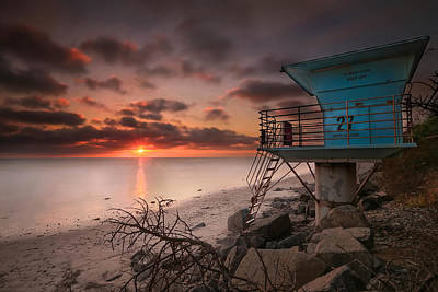 Tide Photograph - Tower 27 by Larry Marshall