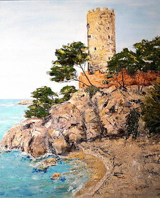 Painting - Tower At Playa De Aro by Marilyn Zalatan