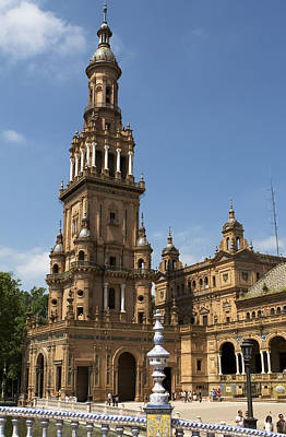 Photograph - Tower At The Plaza De Espana In Maria Luisa Park by Lorraine Devon Wilke