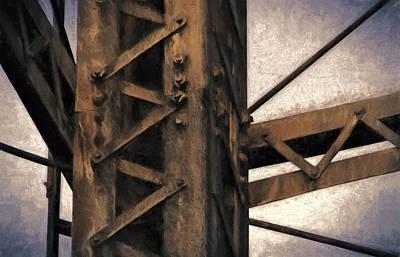 Rust Photograph - Tower Beams by John K Woodruff