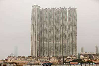 Tower Block Accommodation Kowloon Art Print by Ashley Cooper