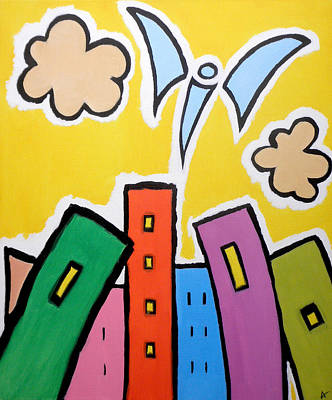 Painting - Tower Blocks by Andi Oakes