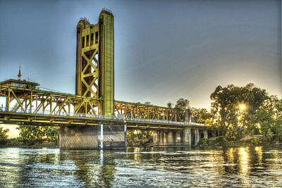 Photograph - Tower  Bridge 2 Sacramento by SC Heffner
