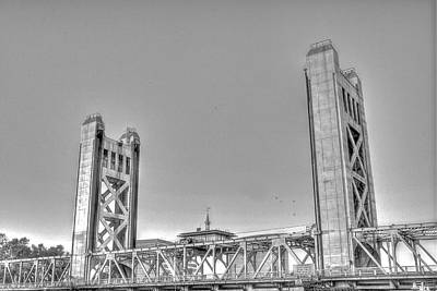 Photograph - Tower Bridge 3 Sacramento by SC Heffner