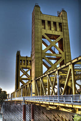 Photograph - Tower Bridge 4 Sacramento by SC Heffner