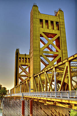 Photograph - Tower Bridge 5 Sacramento by SC Heffner