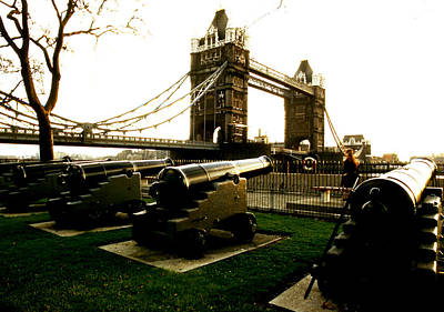Photograph - Tower Bridge And Canon by Robert  Rodvik