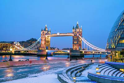 Tower Bridge And City Hall London Art Print by Owenprice