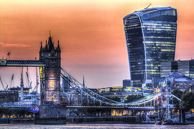Photograph - Tower Bridge And The Walkie Talkie by David Pyatt