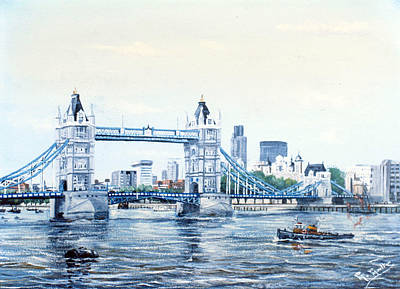Tower Bridge And The City Of London Original by Mackenzie Moulton