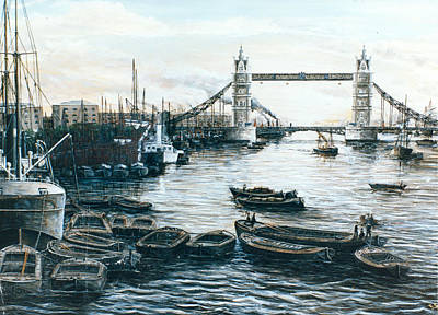 Tower Bridge And The Upper Pool London Original by Mackenzie Moulton