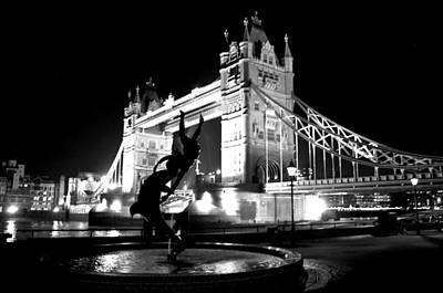 Photograph - Tower Bridge Black And White London by Steven Richman