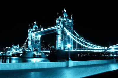 Tower Bridge Blue Art Print by Dan Davidson