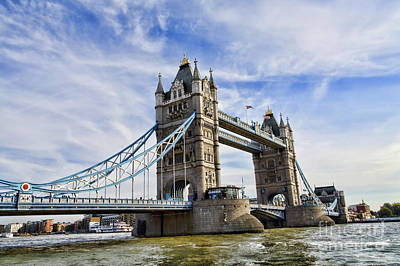 Photograph - Tower Bridge by Diane Macdonald