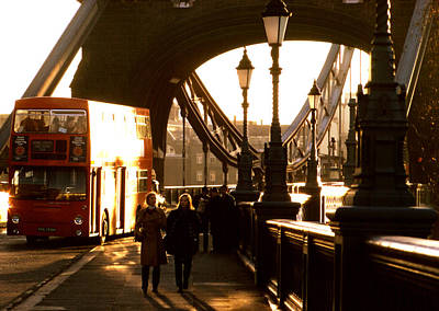 Photograph - Tower Bridge Doubledecker by Robert  Rodvik