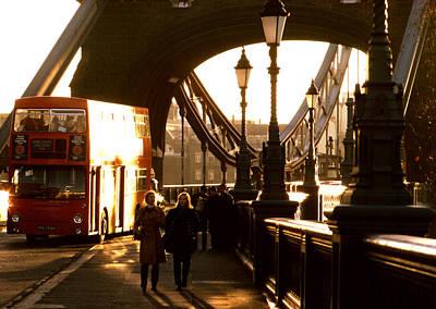 Photograph - Tower Bridge Doubledecker by Robert  Rodvik