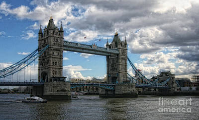 Photograph - Tower Bridge by Gina Cormier