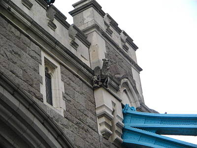 Photograph - Tower Bridge Gryphon by Denise Mazzocco