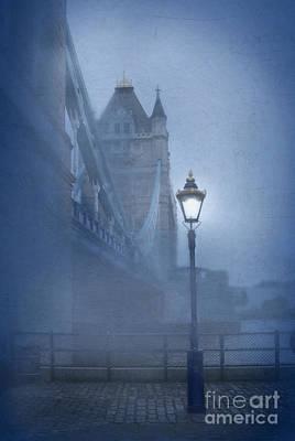 Tower Bridge In The Fog Art Print by Jill Battaglia