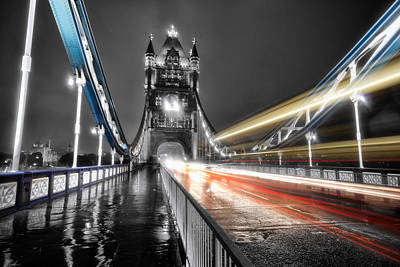 London Bridge Photograph - Tower Bridge Lights by Ian Hufton