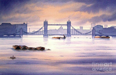 European City Painting - Tower Bridge London by Bill Holkham