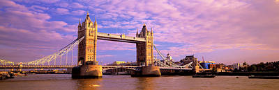 Gothic Bridge Photograph - Tower Bridge London England by Panoramic Images