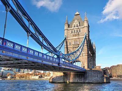 Tower Bridge London Photograph - Tower Bridge London by Gill Billington