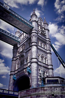 Kate Middleton Photograph - Tower Bridge London by Kasia Bitner