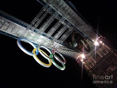 Photograph - Tower Bridge London Olympics Night by Ted Williams
