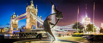 Dolphine Photograph - Tower Bridge London Wide Nearly Twelve Thousand By Five Thousand Pixel Picture Sale by Ashrof Uddin