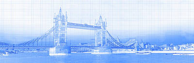 Photograph - Tower Bridge On Thames River, London by Panoramic Images