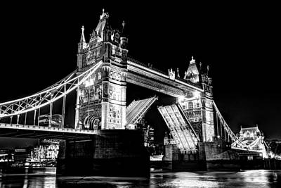 Photograph - Tower Bridge Opening by David Pyatt