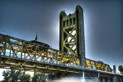 Photograph - Tower Bridge Sacramento by SC Heffner
