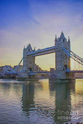 City Of London Photograph - Tower Bridge Sunrise by Chris Thaxter