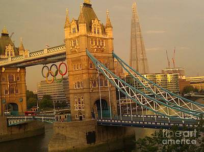 Photograph - Tower Bridge London Olympics by Ted Williams