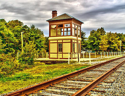 Photograph - Tower By The Tracks by Nick Zelinsky