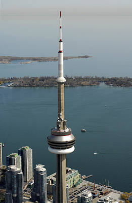 Tower Close Up With Lake Ontario In Art Print by Bernard Dupuis