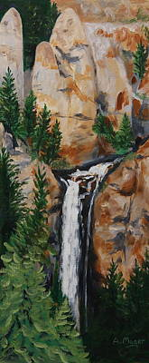 Painting - Tower Falls by Alan Mager
