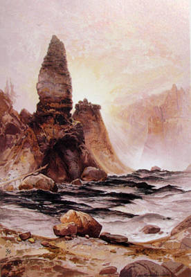 Great Falls Of Yellowstone Digital Art - Tower Falls At Yellowstone by Thomas Moran