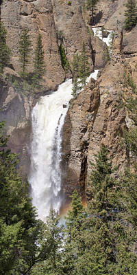 Photograph - Tower Falls Yellowstone by Aaron Spong