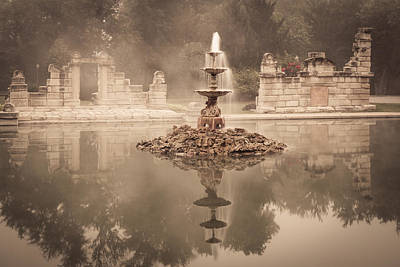 Tower Grove Fountain Art Print