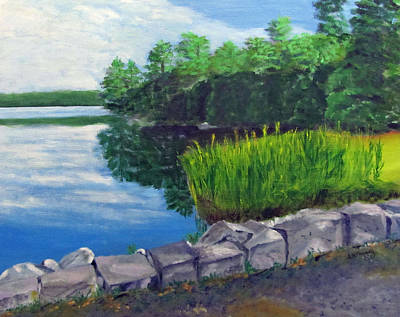 Painting - Tower Hill Pond by Linda Feinberg